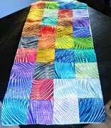 New Wave Quilted Patchwork Table Runner