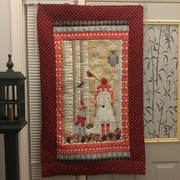 Snowy Day Free Motion Quilting | Winter Wall Quilt