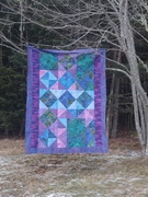 Scrappy Tropical Batiks Quilt