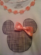 Mouse Appliqued Girls T-Shirt