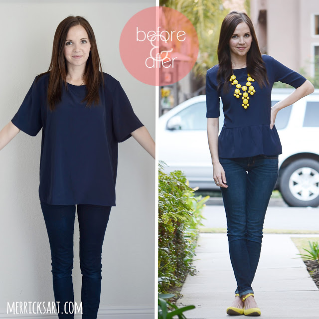 Peplum Blouse Re-style Sewing Tutorial from FabricMart