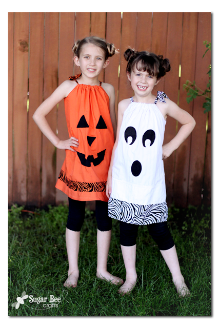 How to Sew Halloween Pillowcase Dresses - by Sugar Bee Crafts