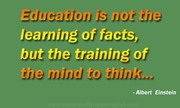 Education is not the learning of facts | Speak well spoken English