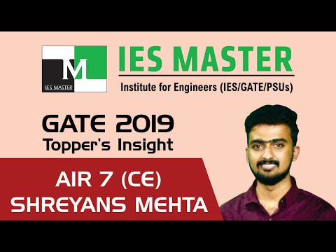 GATE 2019 Topper | Shreyans Mehta AIR 7 (CE) | IES Master Classroom Student