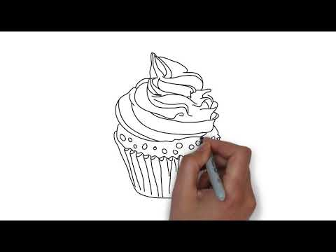 How to draw cup ice cream for kids