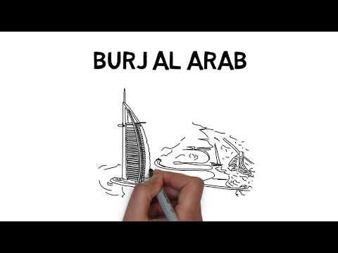 How to draw Burj Al Arab
