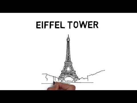 How to draw Eiffel Tower