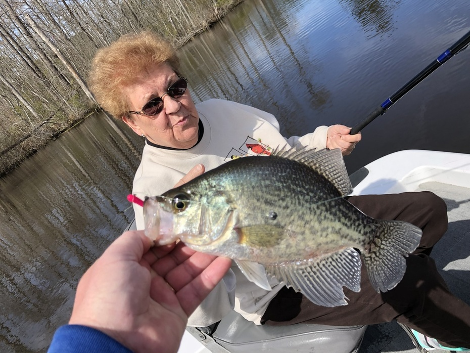 Mom Was Dialed In On The Shallow Crappie Bite.....