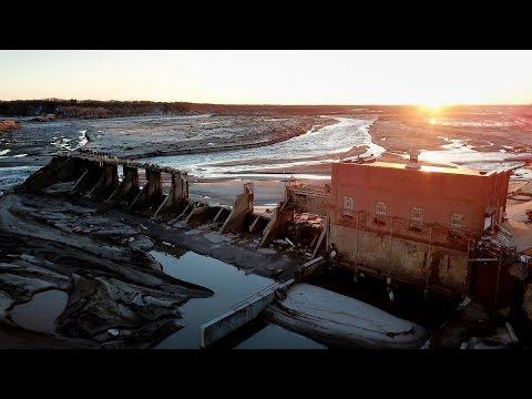Spencer Nebraska Dam Collapse/ US 281 Bridge Drone Footage 4k