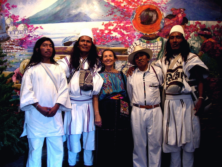 Tata & Elizabeth with Arhauco & Kogi
