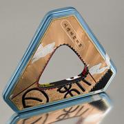Triangular Metallic Copper  Tin Bracelet
