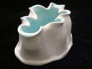 low wavy vase