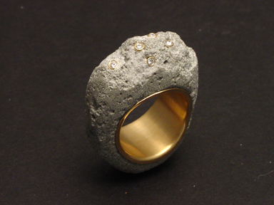 Concrete Diamond Ring