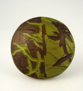 Polymer Clay Bead - Green, brown