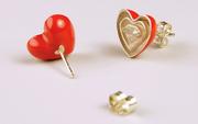 Split Heart- Earrings