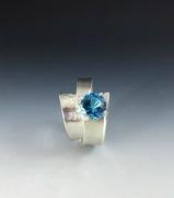 Topaz and Argentium Ring