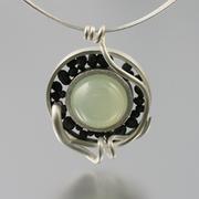 Moostone pebble pendant