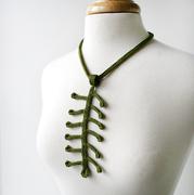 Fiber Jewelry - Silk Crochet Necklace