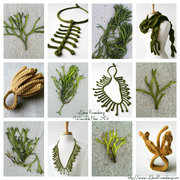Collage - Aquatic and Botanical inspiration for fiber jewerly