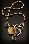 floating moon snail necklace
