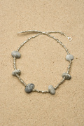 Silver fragment necklace, pebbles