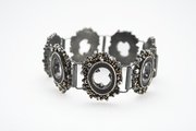 Black & Gold Hinged Bracelet