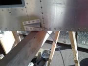 Control Cables routed for rudder, elevator and aileron control