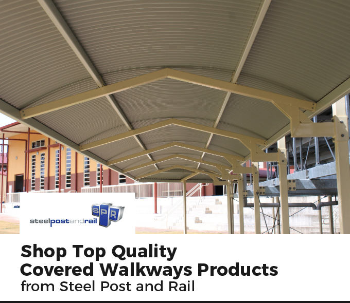 Shop Top Quality Covered Walkways Products from Steel Post and Rail