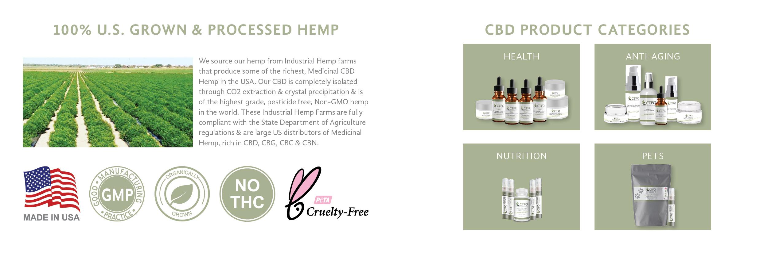 field of hemp,CTFO Hemp Products