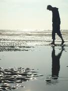 Het strand bij Katwijk. Lekker je bol leeg laten waaien...