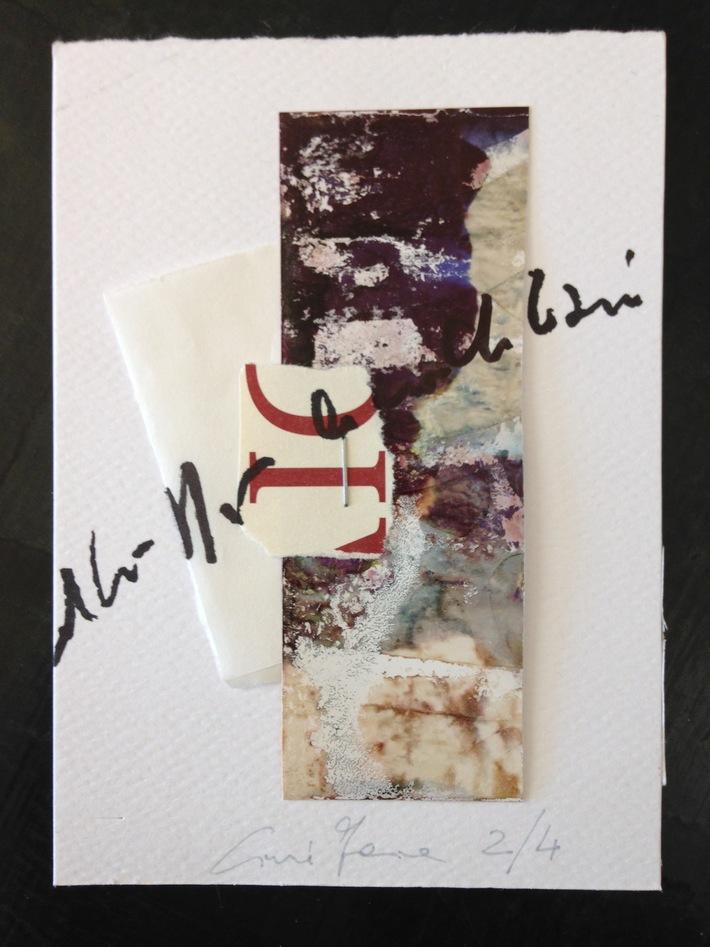 """Cinzia Farina - """"graffiti di terra rossa, 2/4 per Walter Pennacchi"""