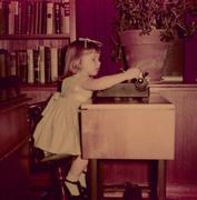 Sheila with typewriter