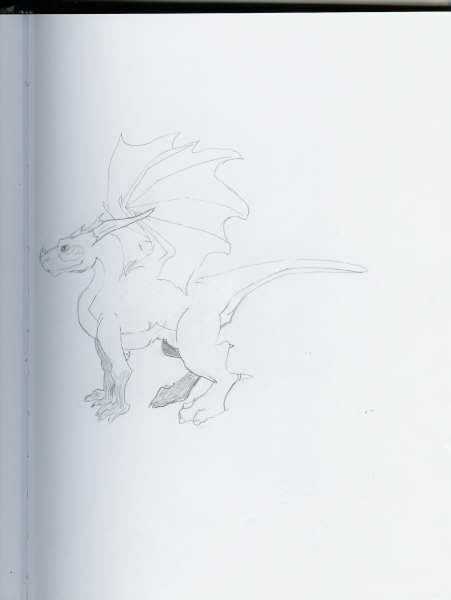 dragon sketch 3