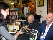 George Pelecanos and Lawrence Block at Mystery Bookstore