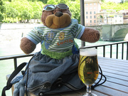 Ted @ a Bern river cafe