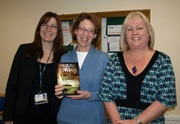 Pauline Rowson and her crime novel with Mary Waldron and Dawn McGee
