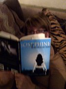 Wendy reading her newly purchased novel...