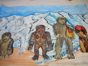 four yetis and lakhe