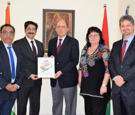 ICMEI Presented AAFT Scholarship to Ambassador of Hungary