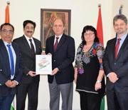 ICMEI Presented AAFT Scholarship to Ambassador of Hungary