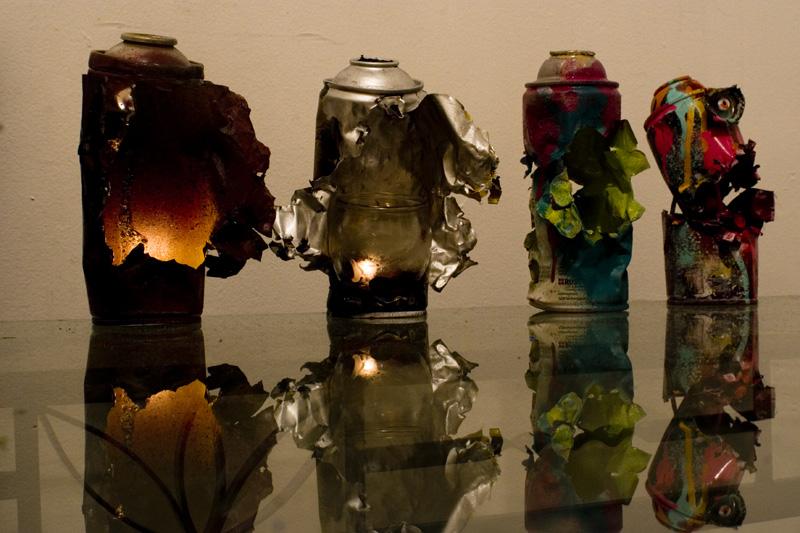 4 Spraycan sculptures