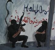 2008, hallo, 50x45 cm, oil on canvas