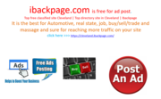 Top free classified site Cleveland | Top directory site in Cleveland | Ibackpage