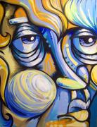 Blue Face #10
