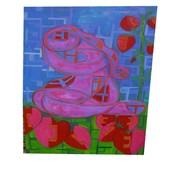 Asleep in Strawberry Field, Oil, 36x60