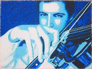 carlo alberto plays the violin