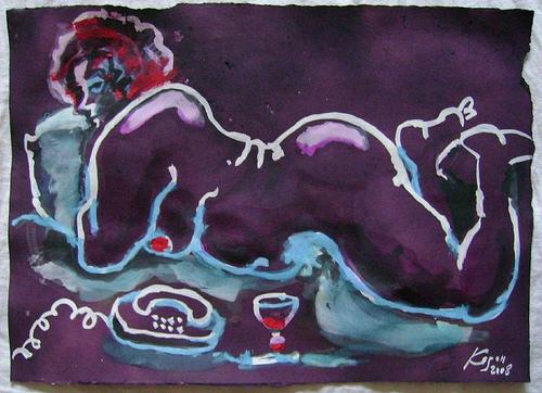 Wine drinking woman