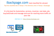 Top free classified site in Tampa | Free directory sites in Tampa | Ibackpage
