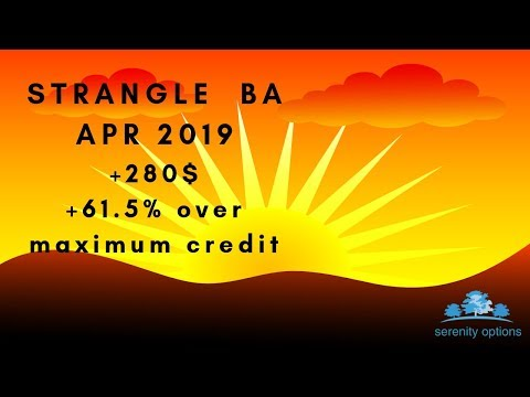 Options trading:Closing Strangle BA APR19,Eng