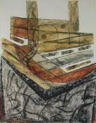 Tocando los ruidos de la memoria-gouache,pastel,carboncillo-18x24-2008